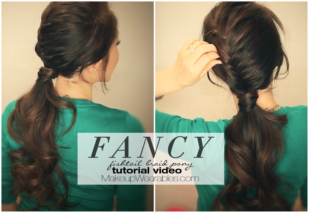 A Half Braided Fancy Ponytail Hairstyle Tutorial Video For Long Hair