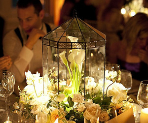 candles, decor, and flowers image