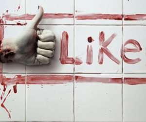 like, blood, and facebook image