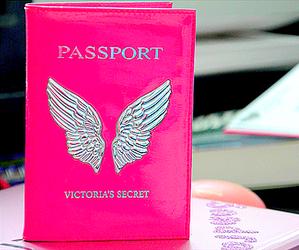 pink, Victoria's Secret, and passport image