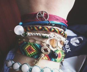 bracelet, peace, and love image