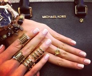 Michael Kors, nails, and rings image