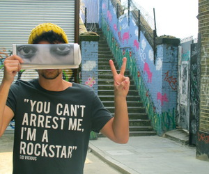 rockstar, cool, and guy image