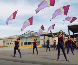 flags, spinning, and colorguard image
