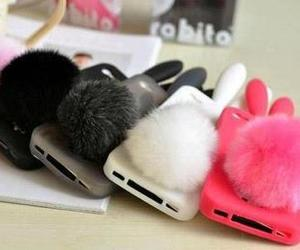 iphone, pink, and bunny image