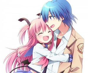 yui, angel beats, and anime image