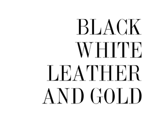 gold, leather, and black image