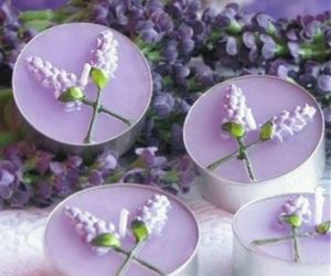 lavender, candle, and purple image