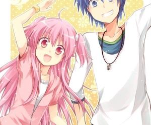 anime, angel beats, and couple image
