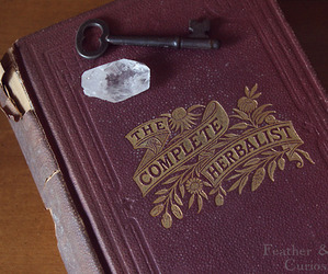 book, crystal, and key image