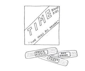 heals, band aid, and time image