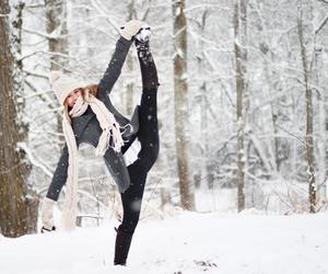 flexible, girl, and gymnastics image