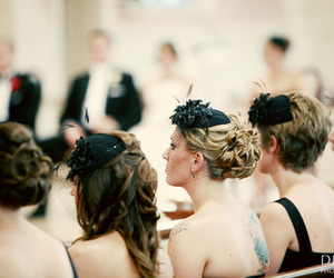 hair, updo, and hair piece image