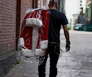 punk, santa, and christmas image