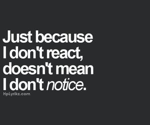 quote, notice, and react image