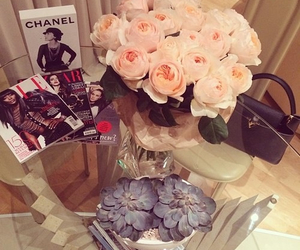 decor, flowers, and magazines image