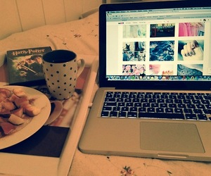apples, cosy, and macbook image