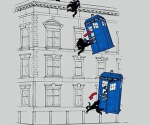 sherlock, tardis, and doctor who image