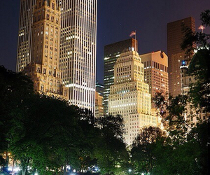 city, new york, and lights image