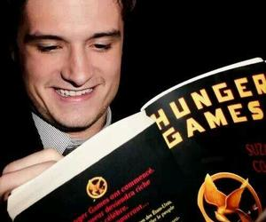 josh hutcherson, book, and the hunger games image