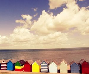 beach, colors, and house image