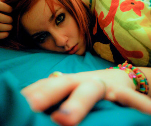 bed, blue, and bracelets image