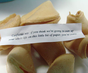 fortune cookie, quote, and text image