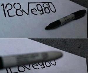 love, I Love You, and math image