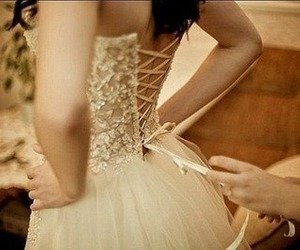 bride, lace, and ribbon image