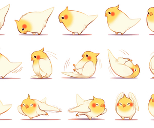 bird, cute, and anime image