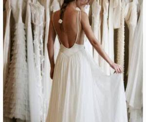 girl, sweet, and wedding dress image