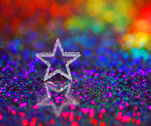 stars, colorful, and glitter image
