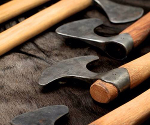 axes, hand crafted, and viking image