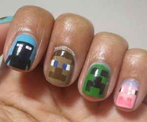 minecraft and nails image