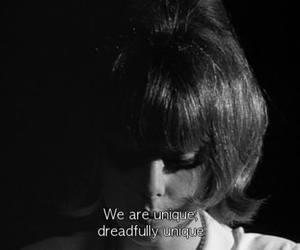 unique, black and white, and subtitles image