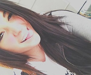 brunette, smile, and be happy image