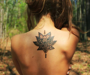 lotus and tattoo image