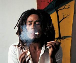 bob marley, smoke, and weed image