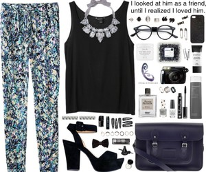black, Polyvore, and blue image