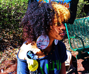 Afro, pretty, and black girls image