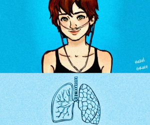 the fault in our stars, hazel grace, and tfios image