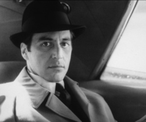 al pacino, b&w, and The Godfather image