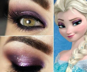 frozen and makeup image