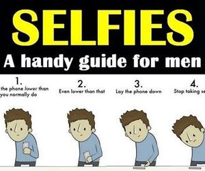 funny, men, and selfie image