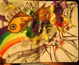 art, colorful, and explode image