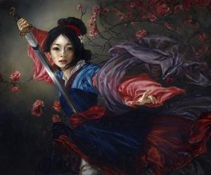 mulan, disney, and art image