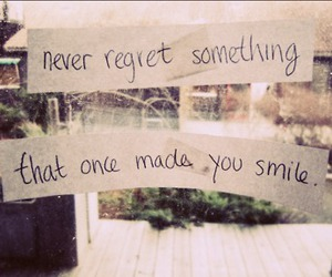 smile, regret, and quote image