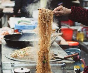 food, noodles, and street food image