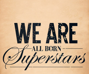 born, typography, and superstar image