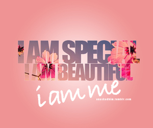 be yourself, i am beautiful, and unique image
